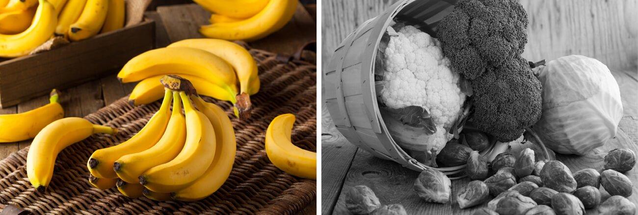 Brokoli, cvetača ali banane pred spanjem?