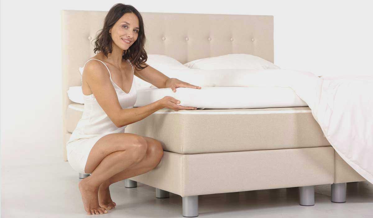 Lažje postiljanje vodne postelje z Exclusive Top izvedbo